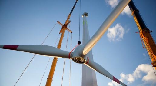 Bygger vindturbin av tre