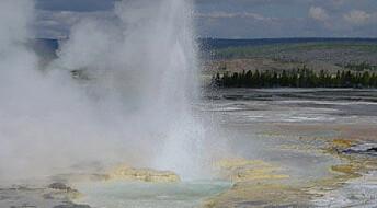 Urgammel helium opp av Yellowstone