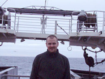 Vidar S. Lien is photographed during the 2008 expedition, when the five observation rigs were recovered. He was not allowed to take the equipment or data with him when he left the ship. (Photo: E. Alexandrov)