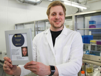 Haakon Karlsen has achieved his Ph.D. in Applied Micro-and Nano-systems at USN. (Photo: An-Magritt Larsen)