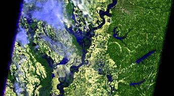 Satellitter overvåker Mississippi-flom