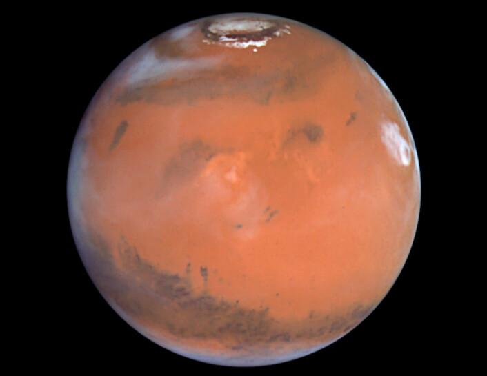 Et bilde av planeten Mars, tatt av romteleskopet Hubble i 1999. (Foto: Reuters/NASA/NTB scanpix)