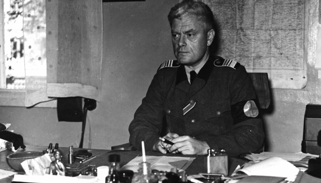 Jonas Lie var blant dem som ville skjerpe straffen for sex mellom menn i Norge under andre verdenskrig. Han var politiminister i Quisling-regjeringen og sjef for Germanske SS Norge. Lovendringen ble aldri noe av, men nazistene brukte den strengere tyske loven på nordmenn som var sammen med tyskere. (Foto: NTB scanpix)