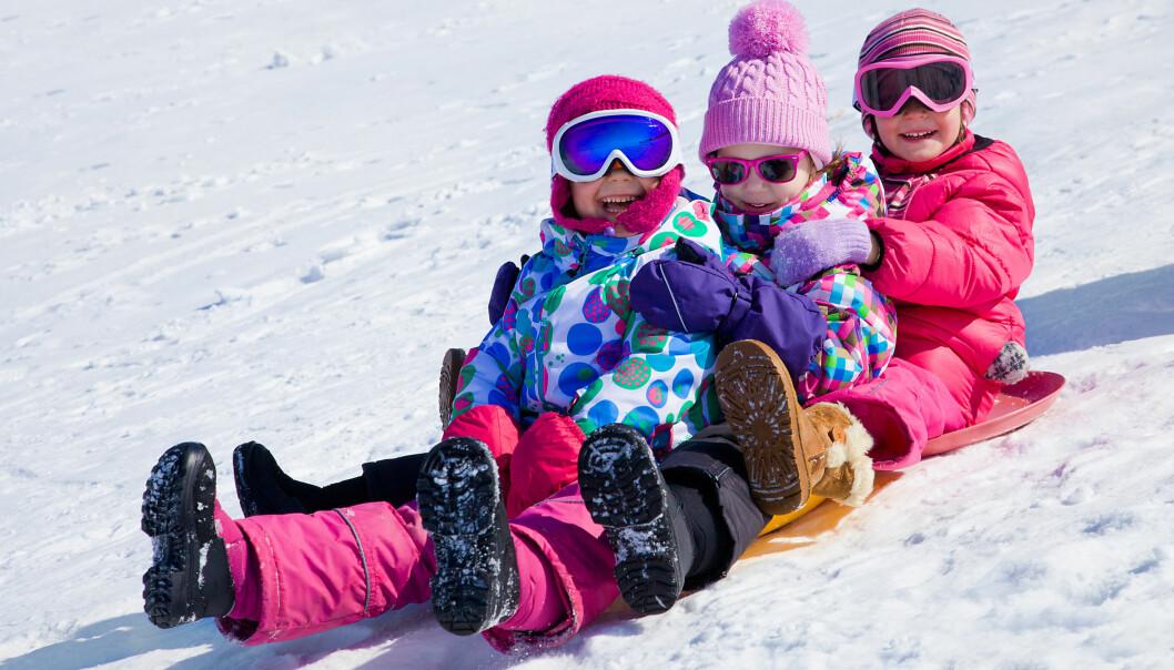 Mange barn vil helst leke fritt med venner i naturen, men foreldrene vet det ikke. I en spørreundersøkelse pekte bare 1,5 prosent av foreldre på at egenstyrt lek i naturen har en verdi.  (Illustrasjonsfoto: Microstock)