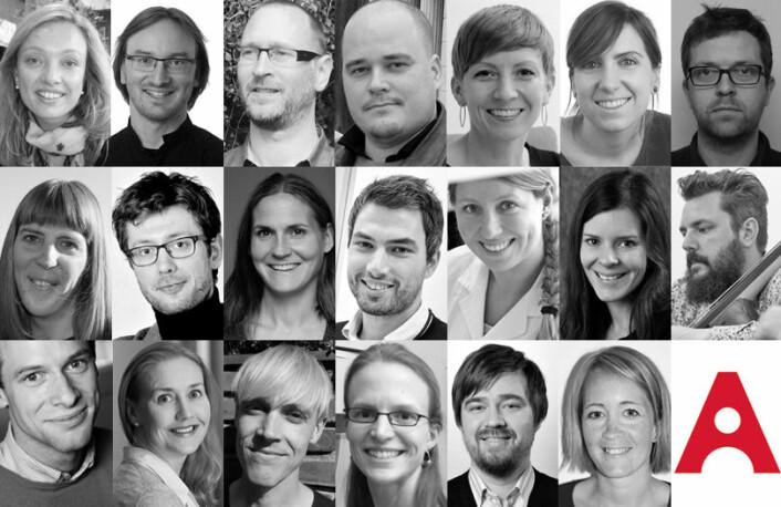 Akademiet for yngre forskeres nye medlemmer.  (Foto: Illustrasjon Eirik Furu Baardsen)