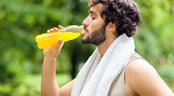 Sportsdrikker kan skade tennene