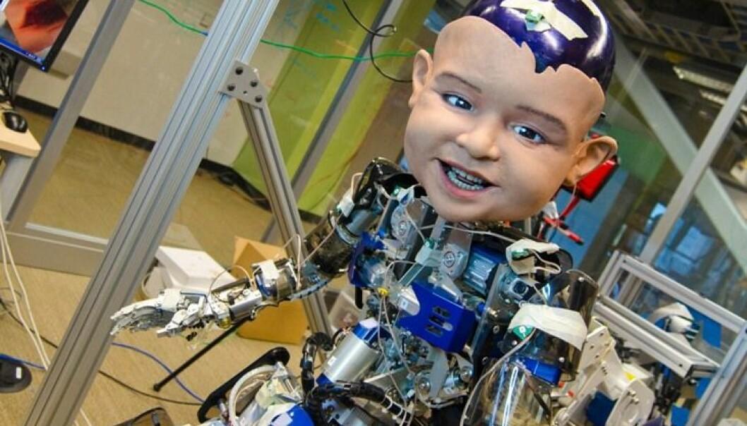 Roboten Diego San ble programmert til å smile på samme måte som spedbarn. Slik kunne forskere kartlegge hvordan voksne reagerte på smilene.  (Foto: David Hanson/Machine Perception Laboratory)