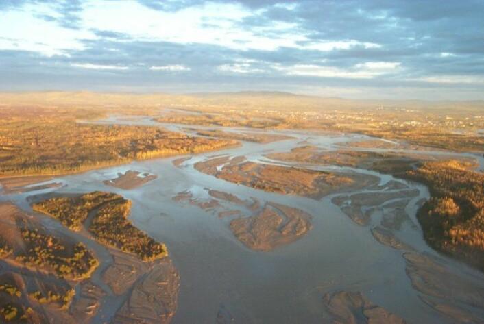 Funnstedet ligger ved Tanana-elven i innlandet i Alaska. (Foto: US military)