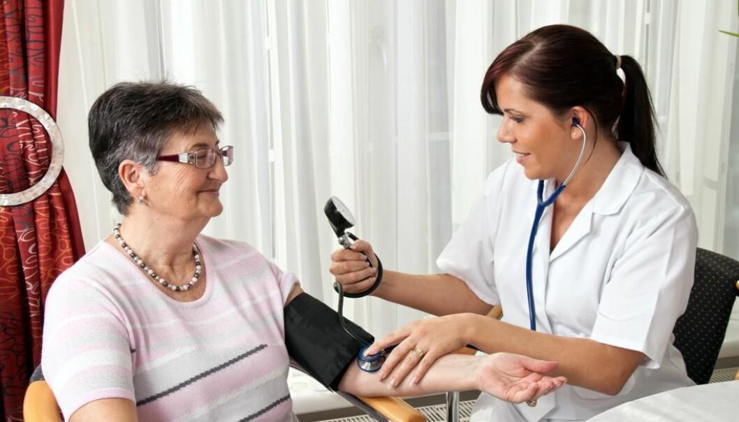 Blodtrykket til folk som ikke går på blodtrykksmedisiner har også gått ned. Dermed er det antakelig ikke økt medisinering som er årsaken til at tromsøværingene har fått lavere blodtrykk, tror forskerne. (Illustrasjonsfoto: Colourbox)