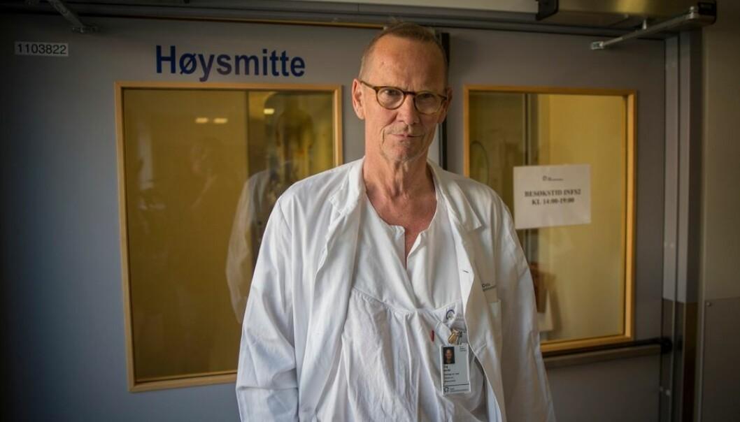 Dag Berild har jobbet med antibiotikaresistens helt siden han tok doktorgraden om metoder for å forbedre antibiotikabruk i 2004. Han har fulgt situasjonen og sett at resistensproblematikken gradvis har nærmet seg våre grenser. Nå er den her. Hvis vi ikke gjør noe kjapt, er framtidsperspektivene ganske dystre, mener han. (Foto: Terje Bringedal, scanpix)
