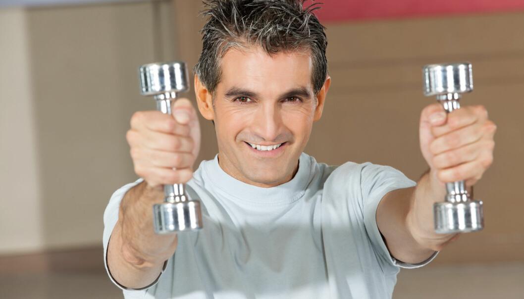 58 menn deltok i studien som viser effekten av styrketrening under hormonbehandling for prostatakreft. (Illustrasjonsfoto: Microstock)