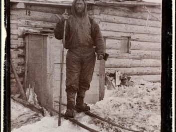 Fredrik Hjalmar Johansen. The picture dates from the Fram polar expedition to the North Pole, from 24 June 1893 to 13 August 1896. (Photo: Frederick Jackson/National Library)