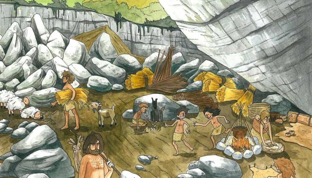 Landbruket kom til Europa fra Midtøsten. Nå bekrefter forskerne at de nyankomne også nådde Spania med denne kunnskapen, noe som blant annet preget opprinnelsen til det baskiske folket. (Illustrasjon: María de la Fuente)