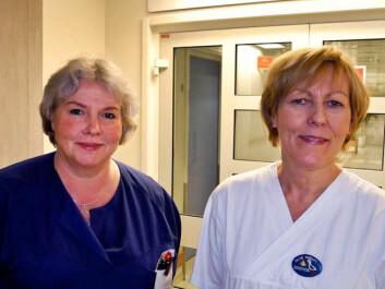 Research fellows Lotta Halvorsen and Hilde Nerum. (Photo: Elisabeth Øvreberg)
