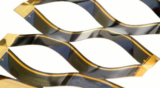 Solcellevipp med papirklipp