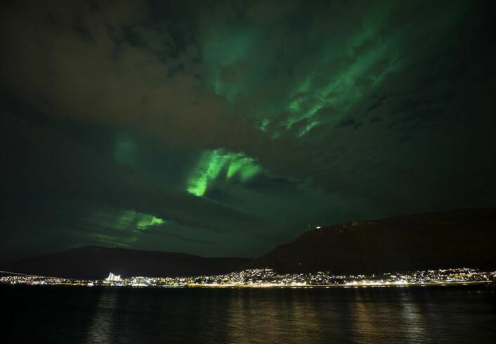 Dette har blitt en hit på sosiale medier, og dermed også en turistmagnet skal vi tro forskere ved UiT.  (Foto: Stig Brøndbo)