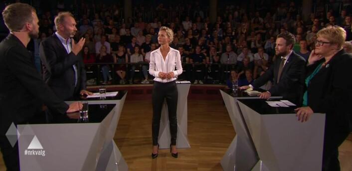 I skoledebatten trekkes ofte forskning inn, senest under NRKs valgsending i Trondheim.  (Foto: NRK nett-tv)