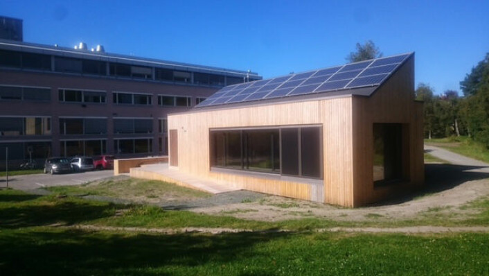 ZEB Living Lab står på NTNUs område på Gløshaugen i Trondheim. (Foto: The Research Centre for Zero Emission Buildings – ZEB)