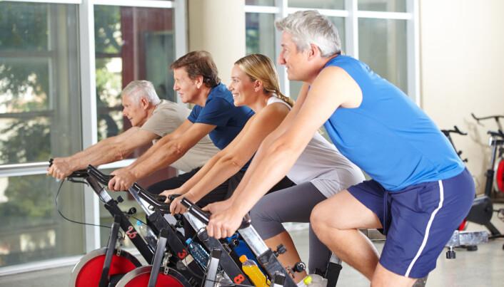 Magefettet rant av diabetikere etter kortvarig, hard trening