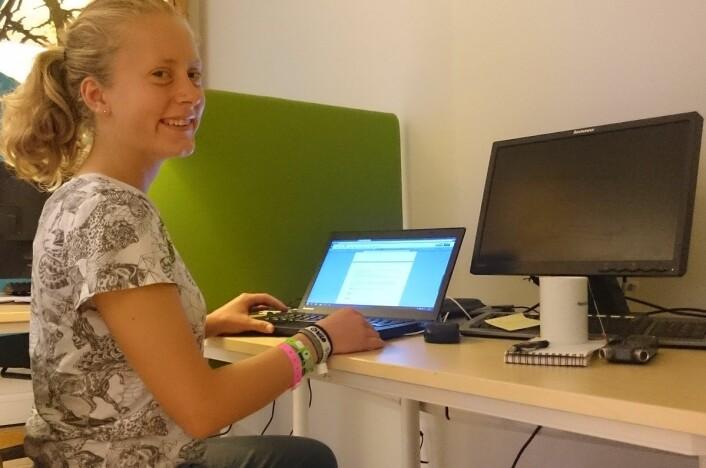 Nora Heyerdahl har vært ungdomsreporter og ferievikar i forskning.no med jevne mellomrom siden 2013. (Foto: Bjørnar Kjensli)