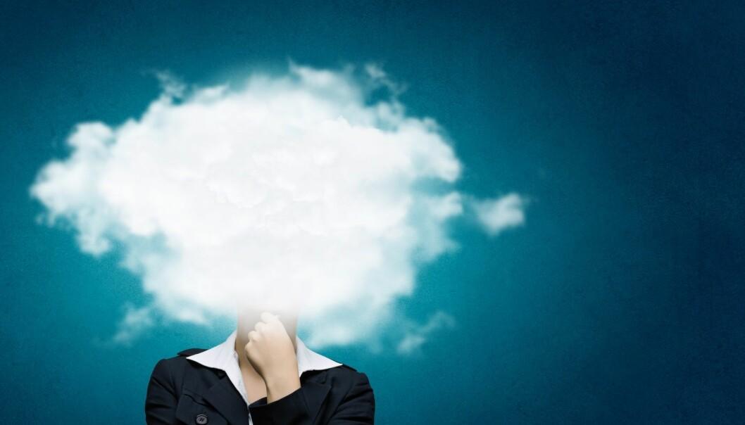 Vi må lære betydningen av billedspråk som «ha hodet i skyene», men autistiske barn kan tolke dette bokstavelig.  (Foto: Microstock, NTB scanpix)