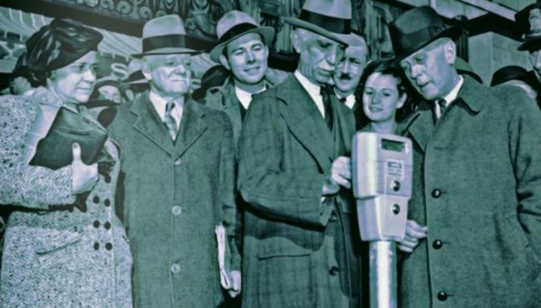 På 1930-talet blomstra innovasjonsiveren. Nye oppfinningar og tenester dukka opp, trass depresjon og krigsutbrot. Mange av oppfinningane lever i beste velgåande i dag. Carlton Cole Magee fann opp det første parkometeret i 1932. (Foto: Roth Hall)