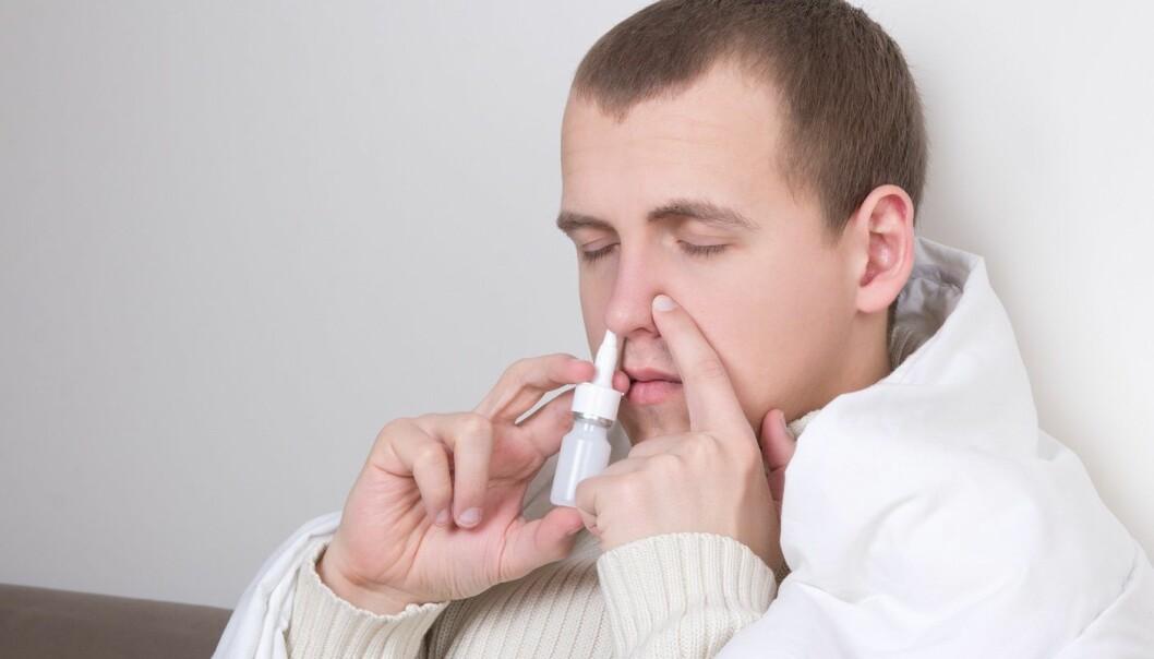 ILLUSTRASJONSFOTO. Nesesprayen kommer sannsynligvis ikke til å se ut som en klassisk tett-nese-spray. (Foto: Colourbox)