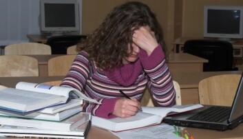 Én av tre tenåringer er kronisk stressa