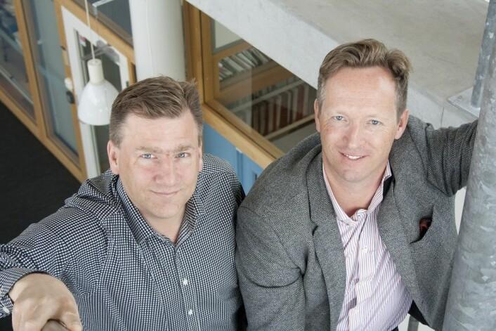 De svenske professorene Olle Melander og Mattias Belting har funnet en sammenheng mellom hormonnivå og brystkreftrisiko. (Foto: Björn Martinsson)