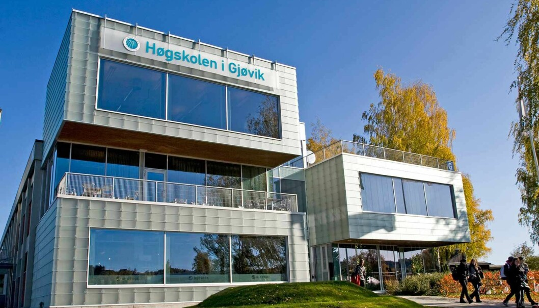 I fjor ble det utført nesten 34 000 årsverk ved norske universiteter og høyskoler. Her ved Høgskolen i Gjøvik har norsk akademia vokst mest de siste ti årene.  (Foto: Høgskolen i Gjøvik)