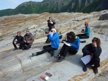 At the presentation of the new map of the Saltfjell area. (Foto: Photo: Miriam Jackson)