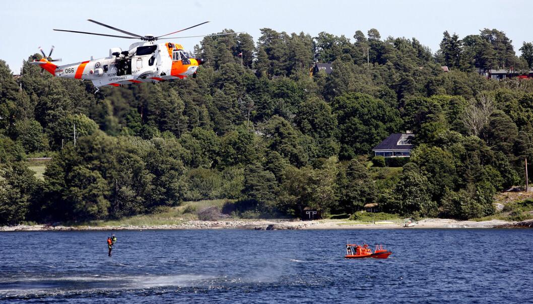 Falske alarmer går ofte når båtmannskapet gjør vedlikeholdsarbeid. Et mannskap ble svært overrasket når det dukket opp et Sea King redningshelikopter, de ante ikke at alarmen hadde gått. Her fra en øvelse med Kystvakten. (Foto: Lars Magne Hovtun/NTB scanpix)