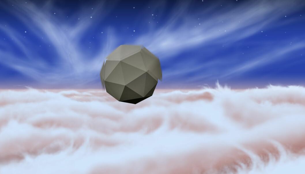 Slik ser JPL-ingeniørene for seg at en av de små vindrobotene ser ut i Jupiters atmosfære. (Foto: NASA/JPL)