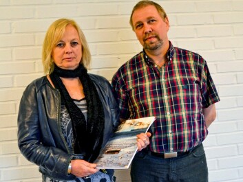 Therese Andrews og Bjarne Lindeløv. (Foto: Nordlandsforskning)