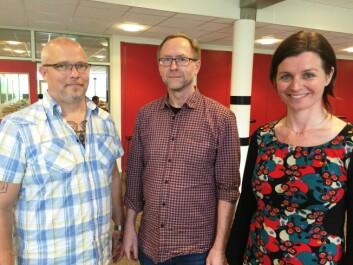 Bjørn Egil Wold (t.v.) har deltatt i korprosjektet Syng deg friskere ved Høgskolen i Nord-Trøndelag. Arve Almvik og Grete Daling skal nå gå i gang med et forskningsprosjekt på samme tema.  (Foto: Bjørnar Leknes)