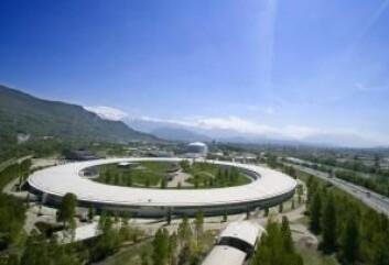 Forskerne har brukt det europeiske synkrotronstråle-anlegget ESRF i Grenoble i Frankrike.  (Foto: ESRF)