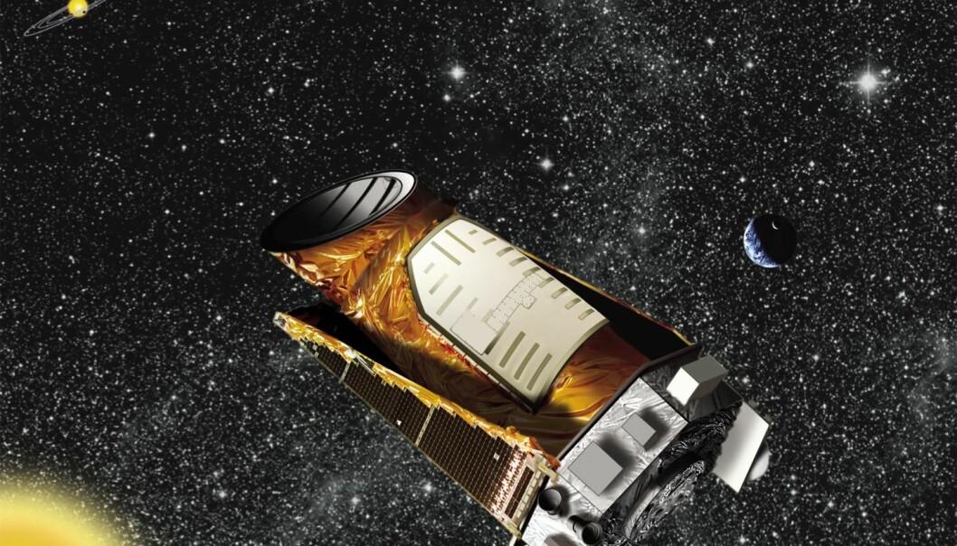 Romteleskopet Kepler har funnet hundrevis av eksoplaneter. Nå har danske forskere målt alderen på 56 av dem.  (Illustrasjon: Nasa)