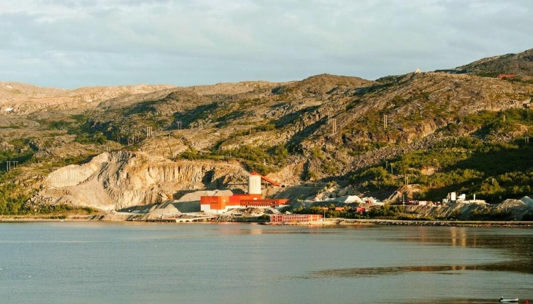 Kobbergruveanlegget i Repparfjord, Kvalsund kommune, Finnmark.  (Foto: Samfoto)