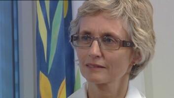 Ingrid B. Helland er leiar for Nasjonal kompetansetjeneste for CFS/ME.  (FOTO: NRK)
