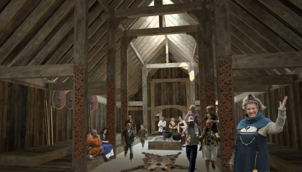 Historisk vikinghall blir gjenskapt i Danmark