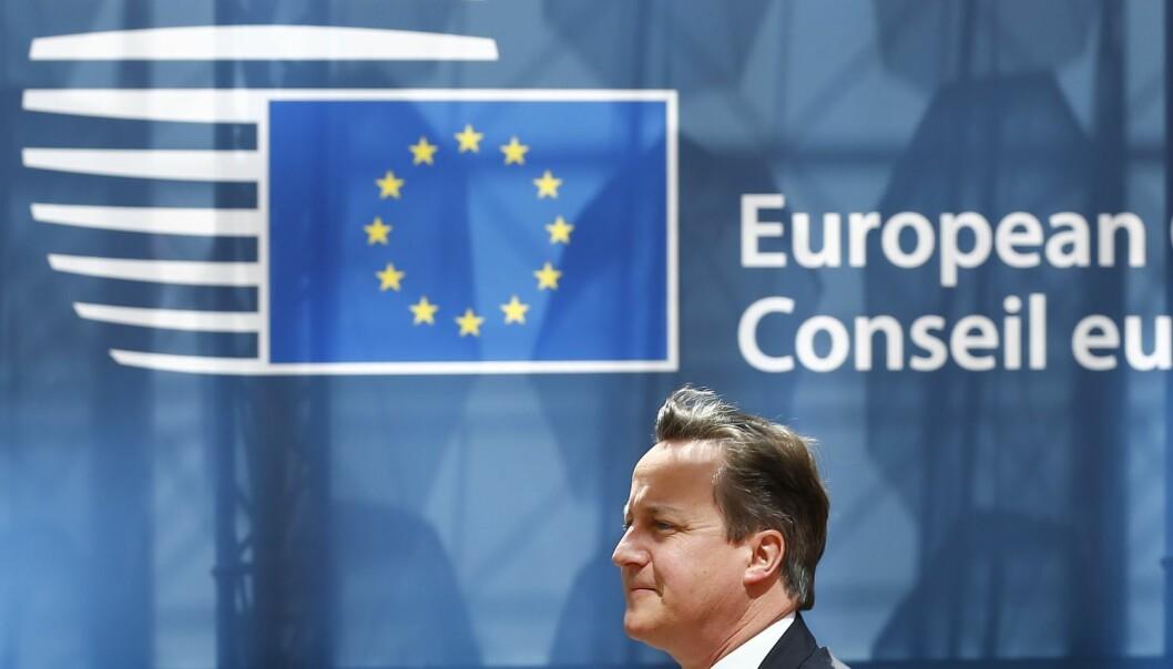 Storbritannias statsminister David Cameron har lovt en folkeavstemning om britisk EU-medlemsskap. Det skjer trolig høsten 2016.  (Foto: Darren Staples, NTB scanpix)