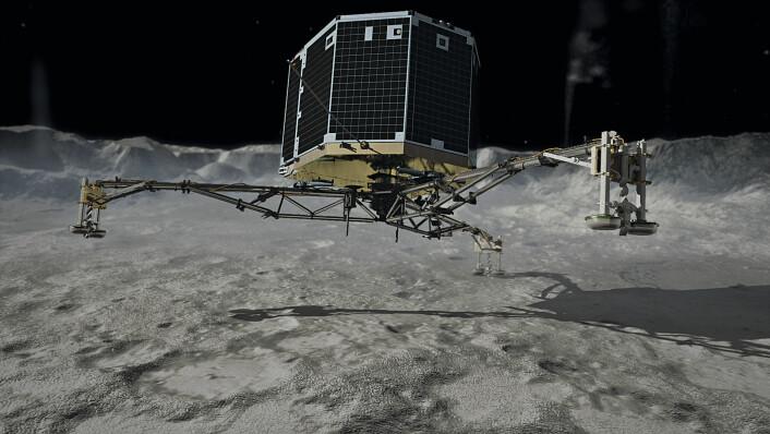Fortsatt kontakt vil i tillegg gjøre det mulig å skaffe data fra den videre ferden innover mot Solen, som rundes 13. august, data som ikke bare vil lære oss mer om kometer men også klargjøre rollen de kan ha spilt når det gjelder Jordens vann og liv. (Foto: (Illustrasjon: NASA))