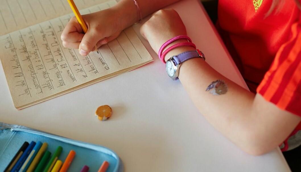 Elevar som gjekk ut av fjerde og sjuande klasse låg frå eit halvt til to år føre jamaldringar som ikkje hadde delteke i prosjektet. (Foto: Annica Thomsson)