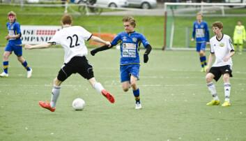 Erik Hilleren (15) drømmer om proffkarriere på Vålerenga. (Foto: Andreas B. Johansen)
