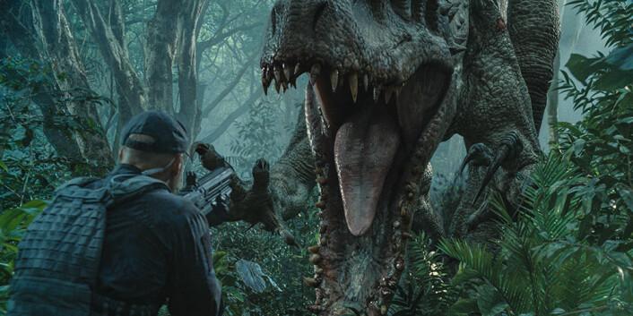 Ifølge dinosaurekspert Jørn Hurum er det ingen umiddelbar fare for at et menneske skal havne i denne situasjonen. (Foto: United International Pictures)