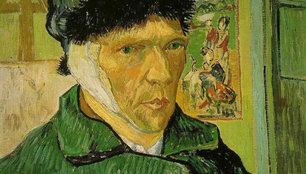 Maleren Vincent Van Gogh brukes ofte som eksempel på det gale, kreative geniet. Han skal ha hatt flere psykotiske opplevelser i løpet av livet. Her er utsnitt fra Selvportrett med avskåret øre fra 1889. (Illustrasjon: Selvportrett med avskåret øre, Vincent Van Gogh, Courtauld Institute Galleries)
