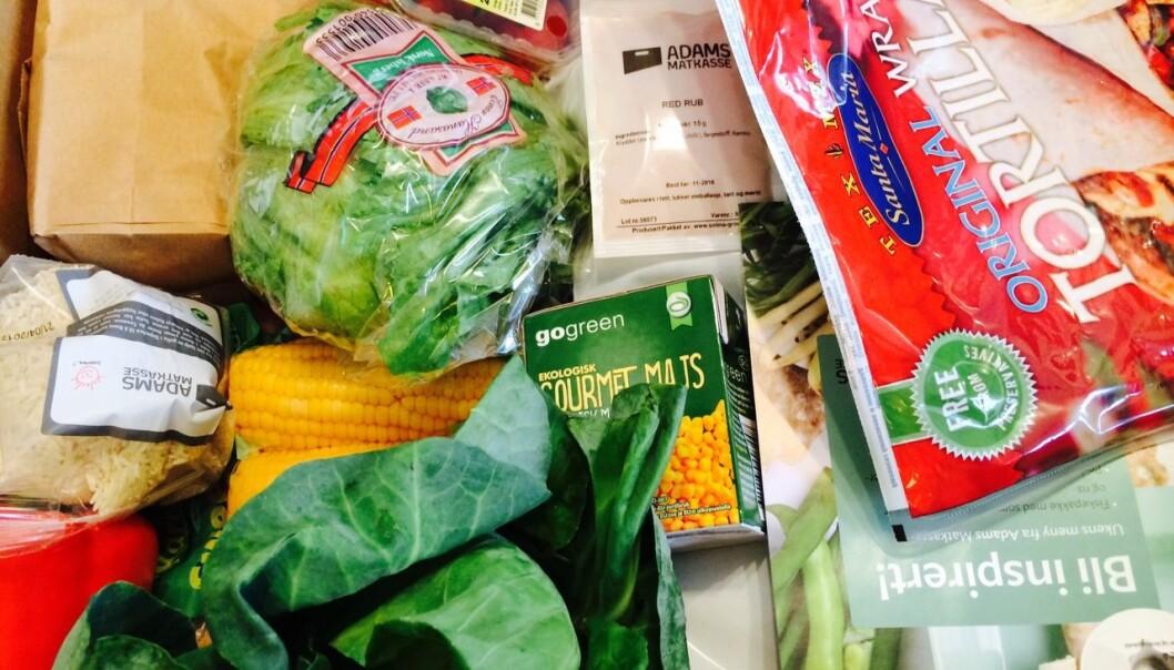 En av fem norske husholdninger vurderer å få middagsmenyen levert på døren for å slippe å dra i butikken. Blant familier med meget høy inntekt er ordningen fire ganger mer utbredt enn blant dem som tjener middels.  (Foto: Anne Lise Stranden/forskning.no)