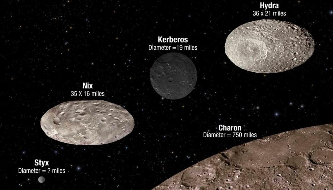 Månekaos rundt Pluto og Charon
