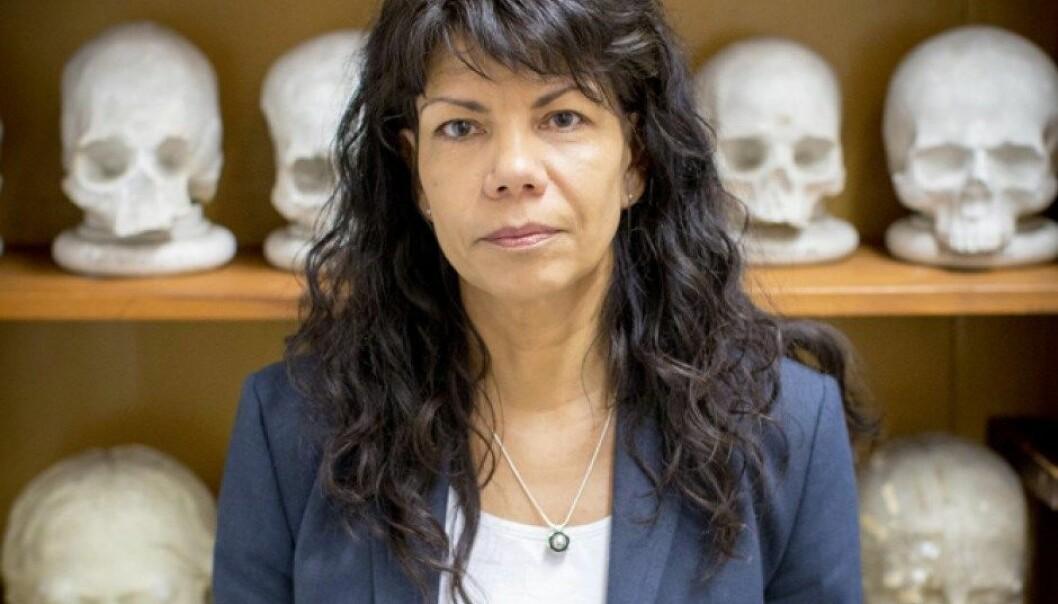 Anne Ingvarsson-Sundström har ansvaret for den anatomiske samlingen i Uppsala.  (Foto: Mikael Wallerstedt)