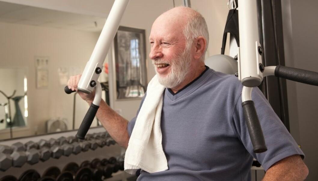 Studien til fysioterapeut Elisabeth Wiken Telenius tyder på at styrketrening motvirket apati hos pasienter med demens. (Illustrasjonsfoto: Colourbox)